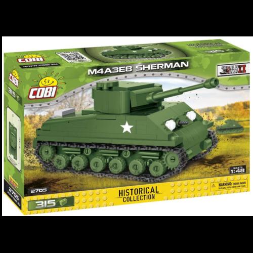 Ludibrium-Cobi 2705 - Panzer M4A3E8 Sherman - Klemmbausteine