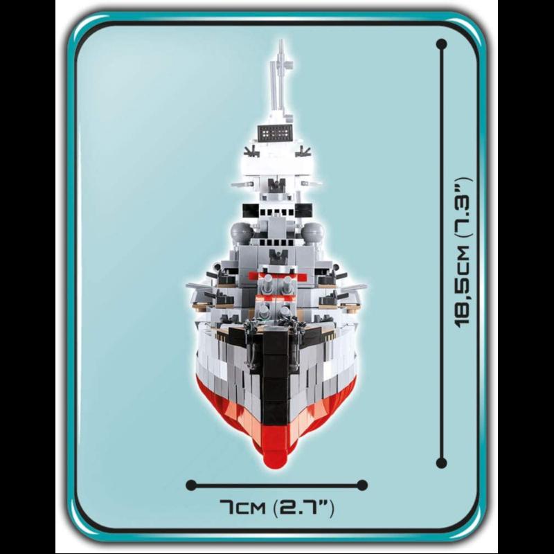 Ludibrium-Cobi 4823 - Prinz Eugen Heavy Cruiser - Klemmbausteine