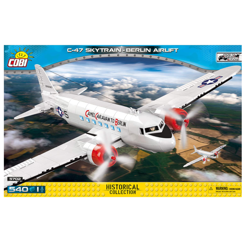 Ludibrium-Cobi 5702 - C-47 Skytrain Berlin - Klemmbausteine