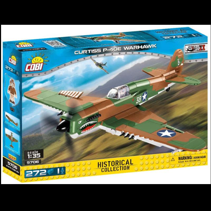 Ludibrium-Cobi 5706 - Curtiss P-40E Warhawk - Klemmbausteine