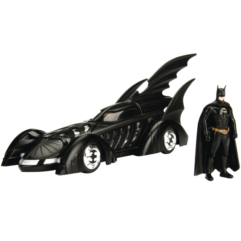 Ludibrium-Jada - Batmobile Movie Batman Forever (1995) black mit Batman Figur, 1:24
