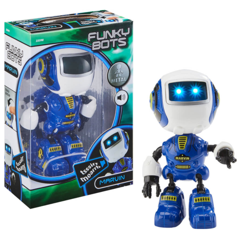 Ludibrium-Revell Control - Funky Bots MARVIN - Spielzeugroboter blau