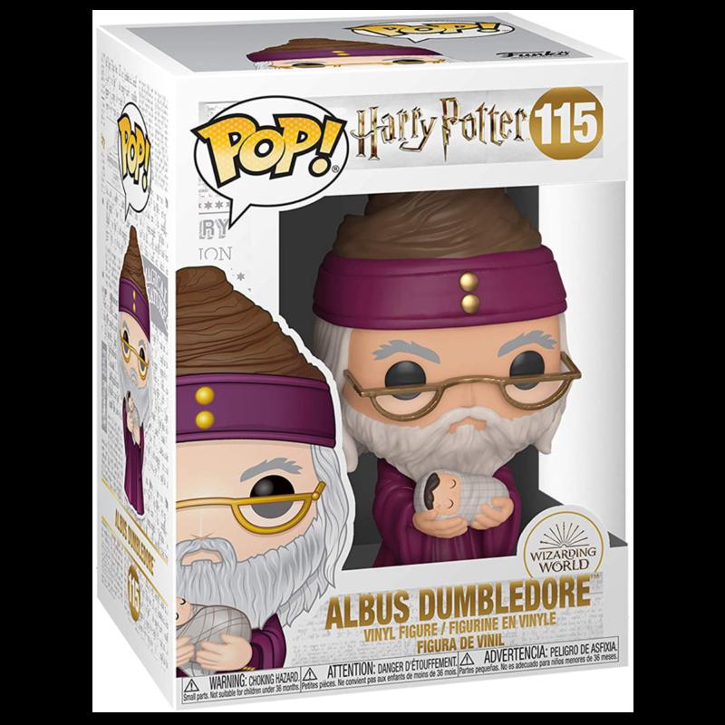 Ludibrium-Harry Potter - POP! Movies Vinyl Figur Dumbledore mit Baby Harry