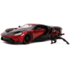 Ludibrium-Jada - Marvel Hollywood Rides Diecast Modell 2017 Ford GT mit Miles Morales Movie Figur Spiderman, 1:24