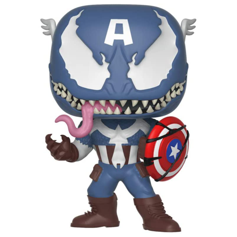 Ludibrium-Marvel Venom - POP! Vinyl Wackelkopf Figur Venomized Captain America