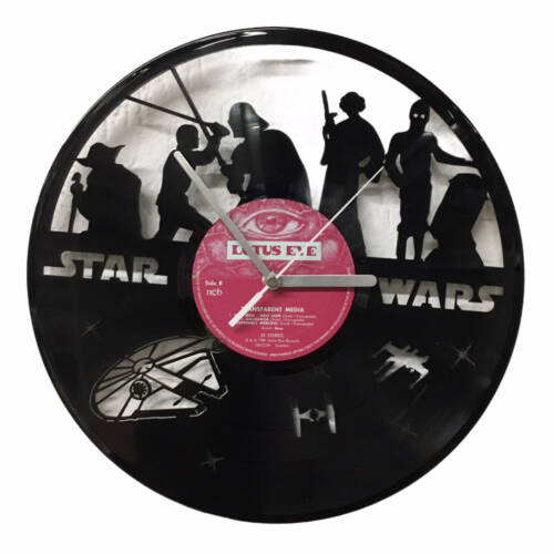 Schallplatten-Wanduhr - Motiv Star Wars