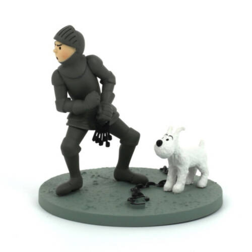 "Ludibrium-Szene ""Tim mit Struppi in Ritterrüstung"" / Scene ""Tintin en Armure"""