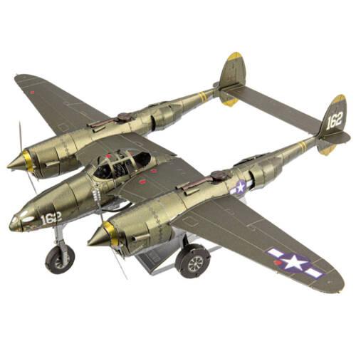 Ludibrium-Metal Earth - Iconx Lockheed P-38 Lightning ICX143