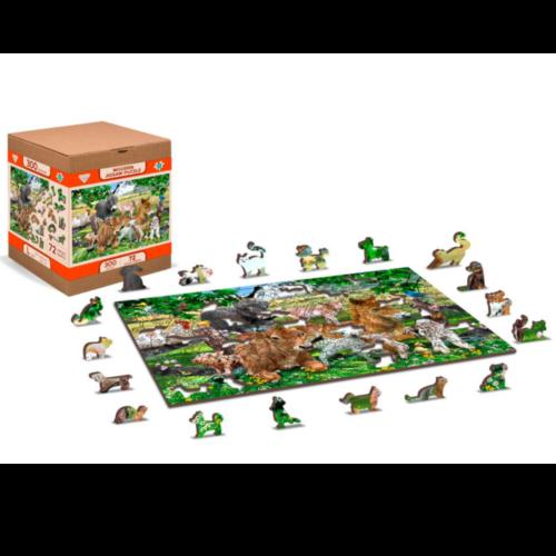 "Ludibrium-Wooden.City - Holzpuzzle 2 in 1 ""Farm Kindergarten"" - 150 Teile"