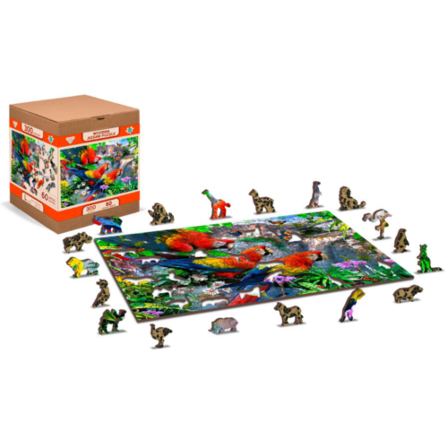 """Ludibrium-Wooden.City - Holzpuzzle 2 in 1 """"Papageieninsel"""" - 300 Teile"""