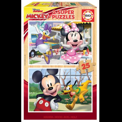 Ludibrium-Educa - Holzpuzzle Disney Junior / Mickey und Freunde - 2 x 25 Teile