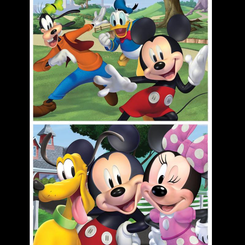 Ludibrium-Educa - Holzpuzzle Disney Junior / Mickey und Freunde - 2 x 50 Teile