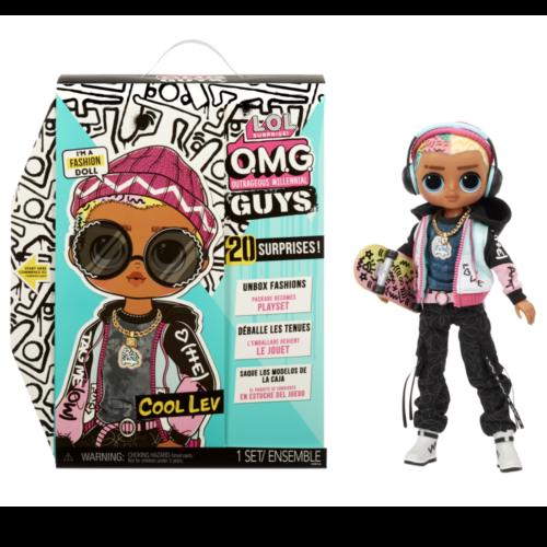 Ludibrium-MGA Entertainment - L.O.L. Surprise OMG Guys Doll Cool Lev mit Skateboard