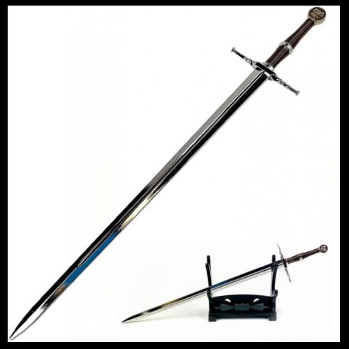 Ludibrium-The Witcher - Geralt von Riva Stahlschwert - Schwertbrieföffner mit Ständer