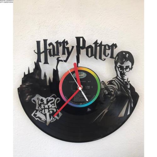 Schallplatten-Wanduhr - Motiv Harry Potter